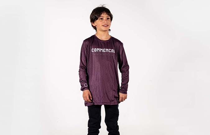 MAILLOT KID COMMENCAL POMPON PURPLE