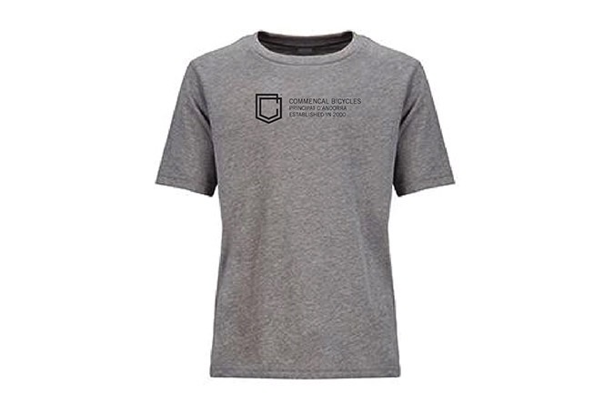 CAMISETA MANGAS CORTAS COMMENCAL KID SHIELD HEATHER GREY 2019