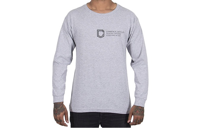 CAMISETA MANGAS LARGAS COMMENCAL SHIELD HEATHER GREY 2019