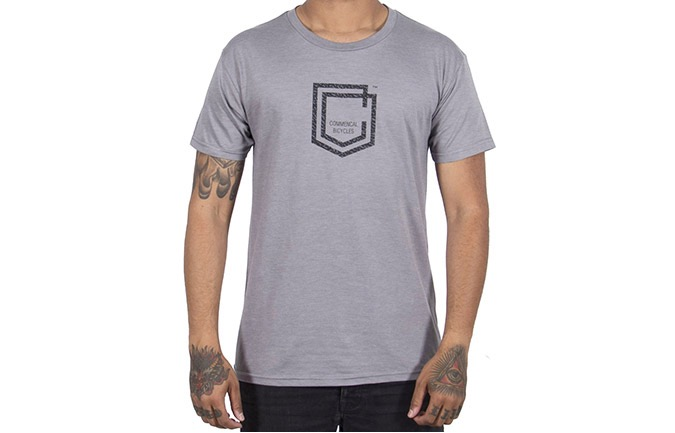CAMISETA MANGAS CORTAS COMMENCAL SHIELD HEATHER GREY