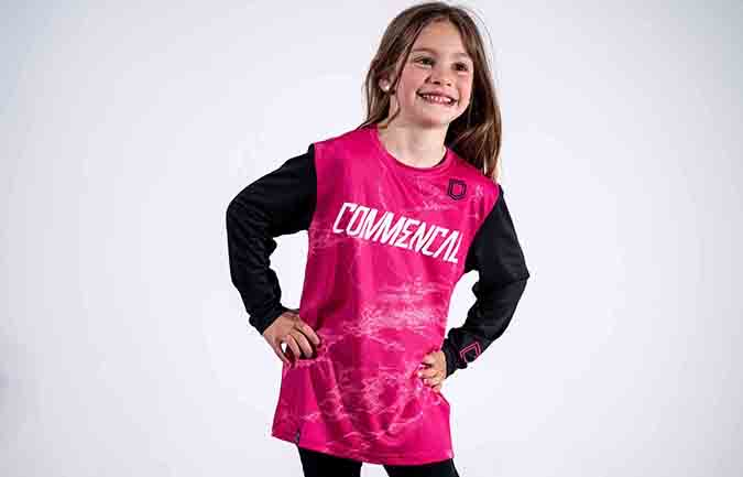 MAILLOT KID COMMENCAL PINK