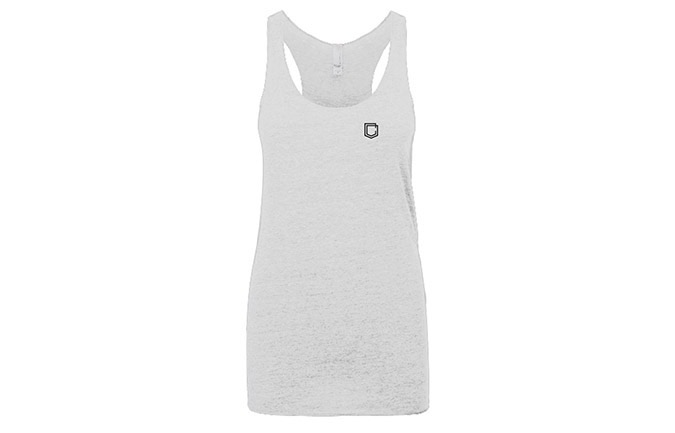 TANK TOP COMMENCAL GIRL SHIELD HEATHER WHITE