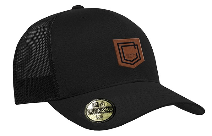 GORRA COMMENCAL TRUCKER VISERA CURVA SHIELD CUIR BLACK