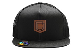 GORRA COMMENCAL TRUCKER VISERA PLANA SHIELD CUIR BLACK 2019